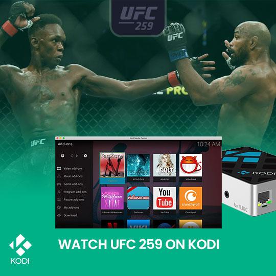 Watch UFC 259 on Kodi Live Online