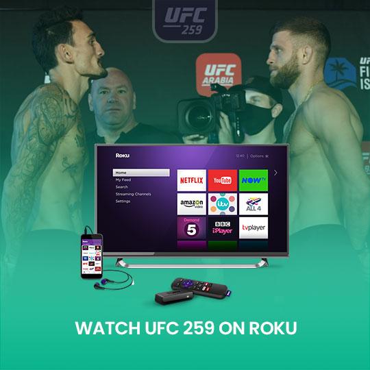 Watch UFC 259 on Roku live