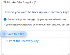 Figure 4 Save and recover BitLocker