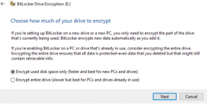 Figure 5 BitLocker Encryption Mode