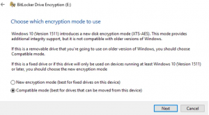 Figure 6 BitLocker compatible Encryption Mode