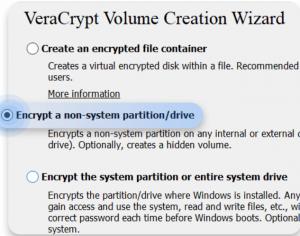 Figure 8 VeraCrypt volume creation Wizard