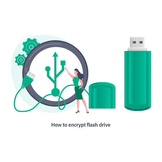 How to encrypt flash drive