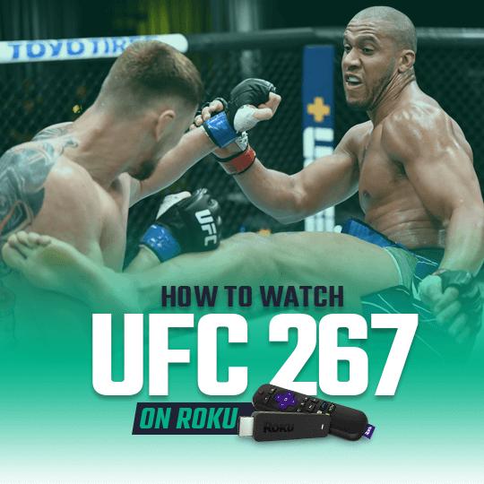 Watch UFC 267 Blachowicz vs. Teixeira on Roku live